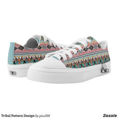 Tribal Pattern Design Low-Top Sneakers