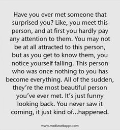 Have you ever met someone that surprised you? Like, you meet this person, and at first you hardly pay any attention to them.