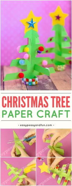 Simplest 3D paper Christmas tree