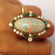 Margherita Missoni's DEADLY opal ring