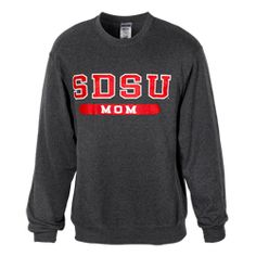 895d78bb SDSU Dad Crew Sweatshirt Pullover crew sweatshirt featuring SDSU Dad (also  available with Grandpa) screen printed across the chest.