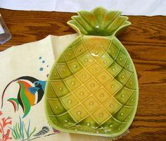 Summer Party Pineapple Plate  California USA by rhinestonesrock, $19.00