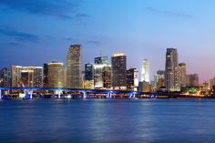 The twinkling night view of the Downtown Miami skyline is the best kind of view! #beautifulview