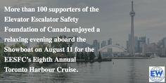 Be sure to check out November's On Camera feature of the Elevator Escalator Safety Foundation of Canada's recent Toronto Harbour Cruise, in which approximately CAD12,000 (US$9,070) was raised for the foundation. #Canada #Toronto #OnCameraFeature #EESFC #Fundraiser
