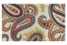 One Kings Lane - Modern Nomad - Whimsy Paisley Rug, Ivory