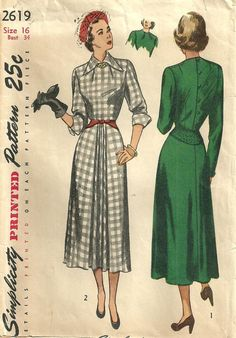 Simplicity 2619 / Vintage 40s Sewing Pattern / by studioGpatterns