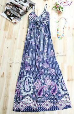 tank top maxi dress patterns | ... plus size bohemian ladies fashion cheap maxi dress pattern R157M