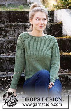 Jumper Patterns, Sweater Knitting Patterns, Knit Patterns, Free Knitting, Drops Patterns, Drops Design, Labor, Work Tops, Knit Crochet