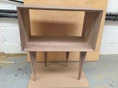 Solid walnut bedside table/cabinet by BLworkshop on Etsy