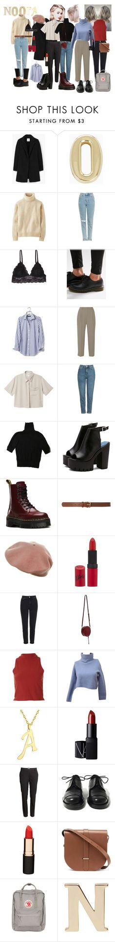 """""""Noora Sætre from Skam"""" by aimeecombe on Polyvore featuring MANGO, BCBGeneration, Uniqlo, Topshop, Humble Chic, Dr. Martens, Banana Republic, Vanessa Bruno, Monki and H&M"""