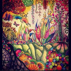forest - enchante forest - floresta encantada - secret garden - jardim secreto - johanna basford - coloring book - livro de colorir