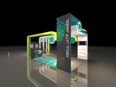 Abdullatif jamel booth stand for new camry 2012 - 3D by hani aldeeb, via Behance