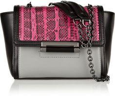 Diane von Furstenberg 440 leather and elaphe shoulder bag on shopstyle.com