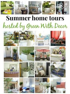 So many great summer decorating ideas in these summer home tours from 20+ bloggers!  Come see every style in these house tours. www.mylifefromhome.com