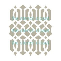 12x12 Large Moroccan Lattice stencil