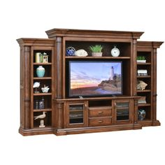 Entertainment Center Paris Office Furniture Made In Usa Builder14 available at Amish Oak and Cherry