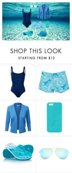 """""""The ocean is where my heart is"""" by kamika-leigh-rough ❤ liked on Polyvore featuring Polo Ralph Lauren, Lilly Pulitzer, claire's, Superdry and Victoria Beckham"""