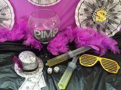 Pimps and Hoes party decor.