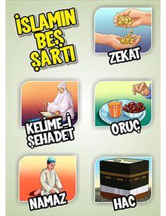 Beş Şart Educational Activities, Activities For Kids, Crafts For Kids, 4 Kids, Children, Learn Turkish, Islam For Kids, Love In Islam, Alphabet For Kids