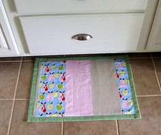 oh the possibilities! DIY Kitchen mat.