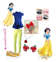 Snow White modern outfits by sweeettreat95 on Polyvore featuring polyvore moda style Fever Fish Pinko Repetto Disney modern fashion clothing