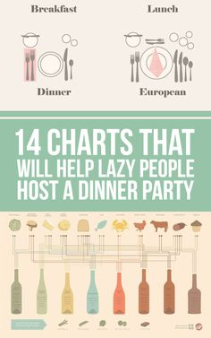 14 Hacks That'll Help The Laziest Person Host A Dinner Party. From table setting ideas, to how much food you will need, to measurement conversion charts, this has everything! #TuesdayMorning