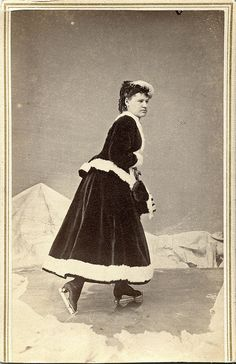 "facesofthevictorianera: "" Ice Skating Woman CDV by N.P. Jones, Madison, Wisconsin by depthandtime on Flickr. """
