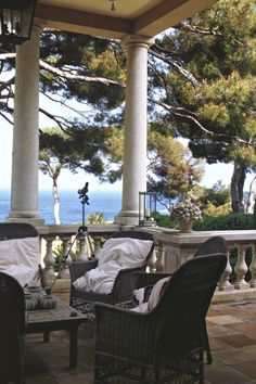 Porch with a view of the water | Mark D. Sikes: Chic People, Glamorous Places, Stylish Things