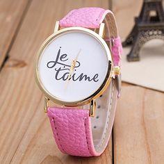 Vintage JETAIME Damen Armbanduhr Basel-Stil Quarzuhr Lederarmband Uhr Pink - http://uhr.haus/better-dealz/pink-vintage-jetaime-damen-armbanduhr-basel-stil