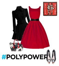 """Power Outfit #3"" by fernshadow ❤ liked on Polyvore featuring Hermès, Alice + Olivia, MANGO, Alexander McQueen and PolyPower"