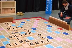 26 Life-Size Versions of Popular Board Games Giant Scrabble board at Mississippi Children's Museum Board Games For Kids, Games For Girls, Group Games, Family Games, Diy Games, Party Games, Outdoor Games, Outdoor Fun, Life Size Games