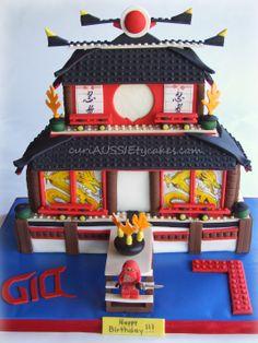 Ninjago fire temple cake