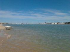 Playa Marismas de Sancti Petri en Chiclana de la Frontera, Andalucía