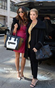Fabulously Spotted: Shay Mitchell In DVF & Ashley Benson In Proenza Schouler - 'Pretty Little Liars' Season 4 Finale New York Promo  - http://www.becauseiamfabulous.com/2014/03/shay-mitchell-in-dvf-ashley-benson-in-proenza-schouler-pretty-little-liars-season-4-finale-new-york-promo/