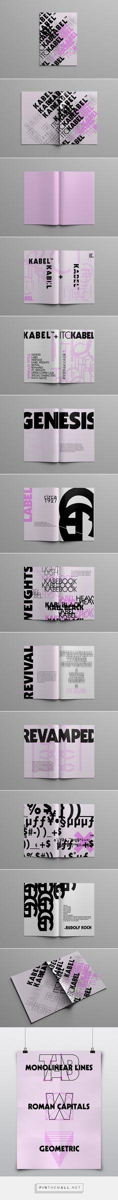 KABEL TYPE SPECIMEN BOOK + POSTER by Foxtrot Design Laura Miller