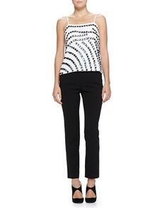 Square-Embellished Camisole Top & Elastic-Waist Slim Pants by Armani Collezioni at Neiman Marcus.