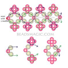 Free pattern for beaded bracelet Michaela | Beads Magic