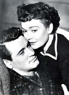 """Rock Hudson and Jane Wyman in """"All That Heaven Allows""""..................the mill he rebuilt for her, the crabfeed/dance with live music, the wedgewood teapot, perfect melodrama!"""