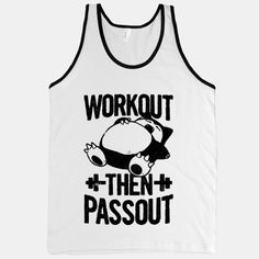 Awesome tank combining working out and Pokemon...gotta love it. Large for $27. (Fitness Clothes Funny)