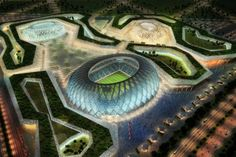 """Qatar Creates Zero Carbon Stadium for World Cup 2022 - """"The cooling technologies used by the project encompass passive, mechanical and electrical measures. Solar photovoltaic technology is used to provide power to cooling equipment, while absorption chillers convey cool air through pipes to ensure that players on the pitch enjoy reasonable temperatures. The technology uses the same principles as underfloor heating pipes."""""""