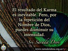 """Enero 29 · Sri Sarada Devi  """"El resultado del Karma es inevitable. Pero, por  la repetición del Nombre de Dios, puedes disminuir su intensidad."""""""