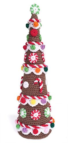 Carolyn Christmas Designs: Gingerbread Tree FREE pattern, this is divine, thanks so xoxo Happy Christmas everyone! Crochet Christmas Decorations, Christmas Tree Pattern, Crochet Christmas Ornaments, Christmas Crochet Patterns, Holiday Crochet, Crochet Crafts, Crochet Toys, Free Crochet, Ravelry Crochet