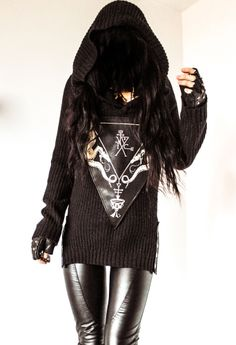 TOXIC VISION hooded sigil sweater