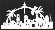 bethlehem silhouette scenes for christmas - Google Search