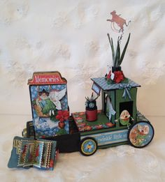 Mother Goose tractor with a tiny mini album inside