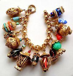 fabulous huge napier asian charm bracelet on ebay