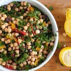 Chickpea Salad Recipe (via www.foodily.com/r/9rKjk2FHU-chickpea-salad-recipe-by-cookie-and-kate)
