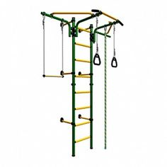 Wall Mounted Playground Set for Kids - Indoor Gym Training Sport Set with Accessories Equipment: Trapeze Bar Swing Set, Climber, Climbing Rope, Jump Rope, Gymnastic Rings - Also Suit for Backyards, Schools and Doorway - Comet Next 2 (Green) sportkid http://www.amazon.com/dp/B00NV34PWW/ref=cm_sw_r_pi_dp_U-O0vb1504VRP