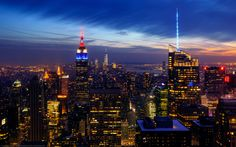 Night at Top of the Rock, Empire State Building, New York City, by Joe Daniel Price on 500px