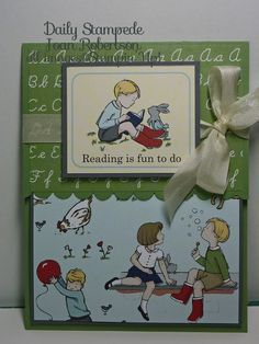 Fun Fold Friday Back to School Card at Daily Stampede (Joan Robertson, Independent Stampin' Up! Demonstrator)
